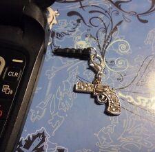 Rhinestone Gun Cell Phone Charm~Dust Plug Cover~Iphone++$1 SHIP