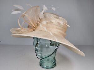Failsworth Millinary 7811 Ivory Wedding Hat NEW RRP £60 100% Abaca Natural Fibre