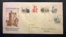 FDC E5 Kastelenserie 1951 getypt adres