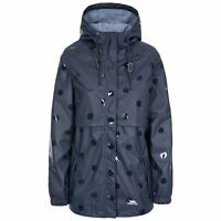 Trespass Womens Rain Coat Longline Waterproof Jacket Polka Dot Coat XXS-XXL
