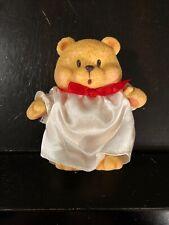 Vintage 1997 Spicy Hard Plastic Angel Bear Christmas Ornament Teddy Bear