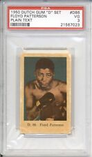 1950 Dutch Gum FLOYD PATTERSON #D86 PSA 3 VG Plain Text HIGHEST GRADED
