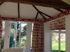 Laura Ashley Kimono Cranberry Or Duck Egg Hand Sewn Roman Blind,Made To Measure,