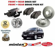 FOR SSANGYONG RODIUS 2.7DT 2005 > FRONT & REAR BRAKE DISCS AND DISC PADS KIT
