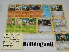 Lot of 12 Emerging Powers Pokemon Cards Sawsbuck Watchog Sawk Cheren