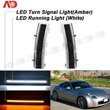 FOR Nissan 350Z/Z33 2006-2009 Smoked LED Daytime Running Lamp Side Indicator 2X
