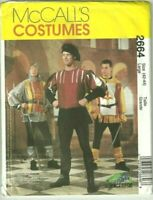 """Adult Mens Size Large Chest 42-44"""" Medieval Costume McCall's Sewing Pattern"""