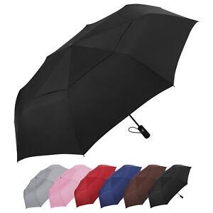 "AOACreations Compact Travel Folding Windproof Automatic Umbrella 55"" Canopy"