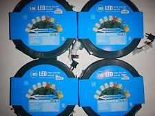 Lot of 4 spools 100 LED Dual Color Bulbs Warm White Multi color NEW  energy star