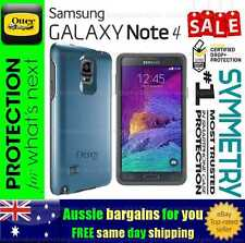 Samsung Galaxy Note 4 Case OtterBox Symmetry Strong Tough Cover Bump Shock Blue