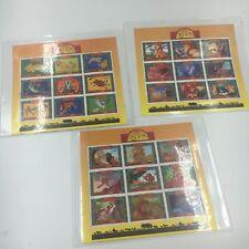 DISNEY - Uganda - Lion King - 3 Sheets  Mint NH With COA