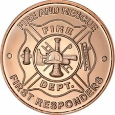 1 oz Copper Round - Fire Department