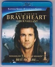 Braveheart (Blu-ray Disc, 2009, Canadian Bilingual , Sapphire Series Edition)