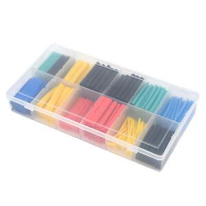 280pcs Set Cable Heat Shrink Tubing Sleeve Wire Wraps Tube 2:1 Assorted Kit Box