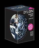 DYLON Pewter Grey Fabric Machine Dye 350g Includes Salt- SPECIAL PROMOTION!!!!