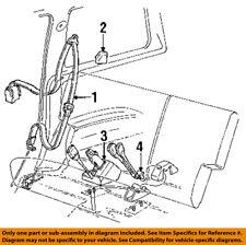 FORD OEM 92-94 Explorer Rear Seat Belts-Buckle End Left F1TZ7860045B