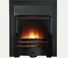 ELECTRIC BLACK MATTE REMOTE CONTROL FIREPLACE PEBBLE FLAME INSERT INSET FIRE 2kW