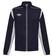Mens New Umbro Track Jacket Tracksuit Top Sports Football Team Coat - Navy White