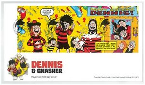 UK 2021 Beano Comic Dennis & Gnasher Mini Sheet On First Day Cover W/ Info Card
