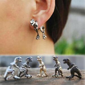 1x Punk Vintage Retro Fashion Dinosaur Cuff Wrap Clip Ear Stud Earrings
