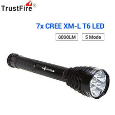 TrustFire 8000LM Cree XML 7 T6 LED Flashlight Torch Light With Holster 5-Mode