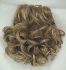 SHORT CURLS CURLY HAIR PONYTAIL HAIRPIECE W/ INTERLOCKING FRENCH COMBS LARK 1696