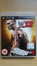 W12 WWE Wrestling Game - Sony PS3 - PlayStation 3 - Video Game - Complete