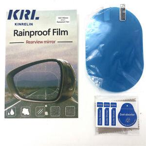 Rainproof Car Mirror Film 2pc Wing Mirror Film Water Resistant  -48hr postage UK