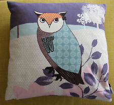 Ashley Thomas Edition Purple Owl Cushion -  Duck Feather Insert