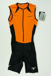 NWT SUGOI RS Youth Large Orange Lycra Triathalon Racing Swimming Cycling Suit