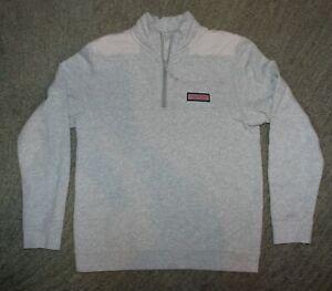 Vineyard Vines Boys Gray Long Sleeve 1/4 Zip Sweatshirt - Size XL (18) - EUC