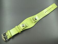 Super Sweet FOSSIL LEATHER STRAP WATCH BAND Shimmer Green LIZARD PRINT SNAPS
