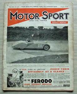 MOTOR SPORT Magazine Aug 1936 FRENCH GRAND PRIX Leinster Trophy Race DELAHAYE