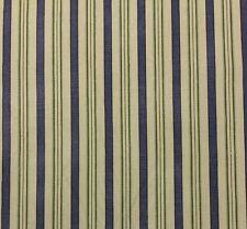 "WAVERLY L.H. GENERAL STORE BLUE GREEN STRIPE  MULTIPURPOSE FABRIC BY YARD 54""W"