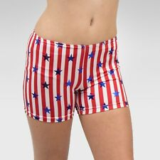 """Patriotic"" shorts size Intermediate child, red/white stripes and blue stars"