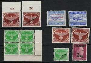 GERMANY 1940s FELDPOST & AIRPOST STAMPS SOME WITH INSELPOST OVPT -CAG 040421
