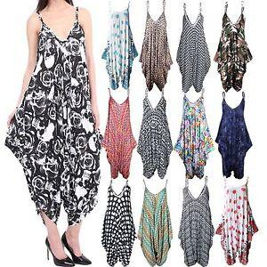 LADIES WOMEN HAREM JUMPSUIT CAMI LEGENLOOK ROMPER BAGGY PALYSUIT MATERNITY DRESS