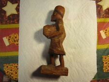 AMAZING ~Wooden Hand Carved India Man Sculpture/Figurine~~NICE!!