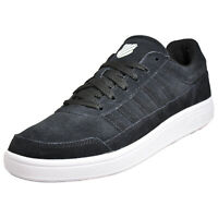K Swiss Court Pro Chasseur Mens Suede Leather Casual Lifestyle Trainers Black