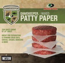 Mossy Oak Gamekeeper Waxed Patty Paper 250 Sheet Count New