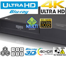 LG UP970 Multi Region Free Blu Ray Disc Player 4k UHD HDR10 All Zone Multi Code