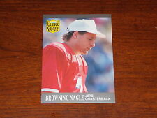 FOOTBALL CARD FLEER ULTRA 1991 BROWING NAGLE ROOKIE #293