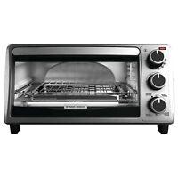 BLACK+DECKER TO1303SB 4-Slice Toaster Oven Silver Black