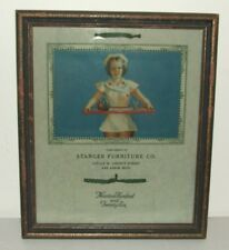 1926 Framed Advertising Risque Sexy Nurse Pin-Up Girl Calendar Stanger Furniture
