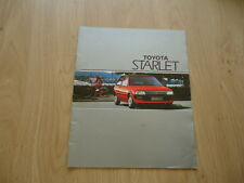 TOYOTA STARLET BROCHURE / PROSPEKT 1987