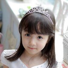 Baby Girls Princess Tiara Pearl Crystal Crown Headband Hair Band Pretty Hairband