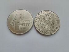 Poland coin 1 zloty 1958-Oak Leaf-Sample-nickel-Stamp Gloss UNC