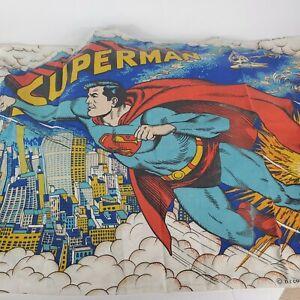 Vintage Superman Bed Twin Duvet Cover & Pillow Case 1978