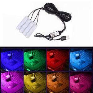 White Glow Tube Foot light Wireless Bluetooth Control USB RGB LED Strip Nisin