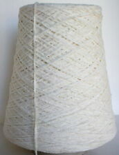 Natural Cotton Chenille cone yarn weave knit 1 lb - Free Ship On $50+ *Sale*